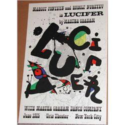 Joan Miro, Lucifer, Original Lithograph Poster