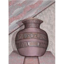Luis Mazorra,  Old Jar II,  Signed Embossed Etching
