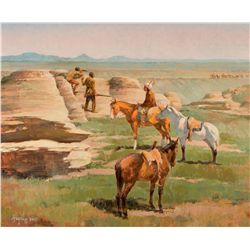 Blackfeet Scouting the Lewis Party - 1806 by Hagel, Frank