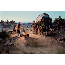 Daybreak Doings in a Cow Camp by Boren, James