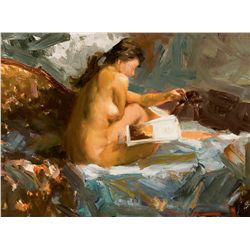 Bernadette Reading Nude by Kelley, Ramon