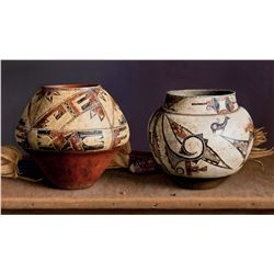 Zuni Olla & Acoma by Acheff, William