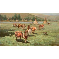 The Robe Trade, Piegans Heading for the Trading Post by Hagel, Frank