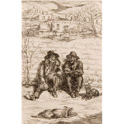 Hombres in the Sun by Sloan, Black Pot by Sloan, John