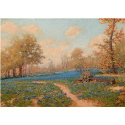 Blue Bonnet Landscape by Arpa, Jose