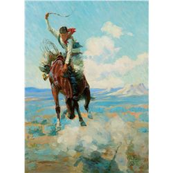 Bucking Bronco, 1913 by Gollings, William