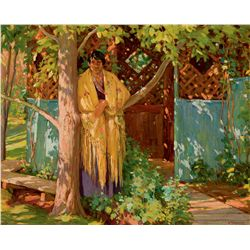 In Front of the Well House by Sharp, Joseph H.