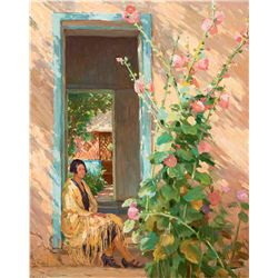 Leaf Down in the Door Way by Sharp, Joseph H.