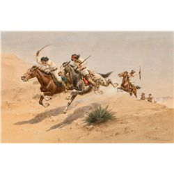 Running for Cover (Apaches) by Hansen, Herman