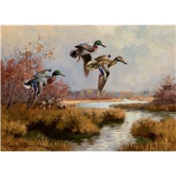 Mallards Drifting In - Field Study by Browne, George