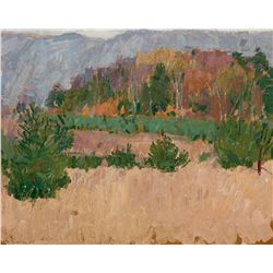 Taos Landscape with Gray Sky by Gaspard, Leon