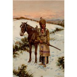 Winter Hunt - Sioux 1909 by Hauser, John