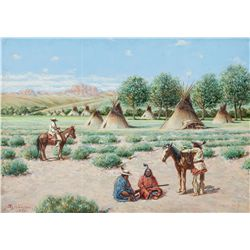 Indian Camp by Hauser, John