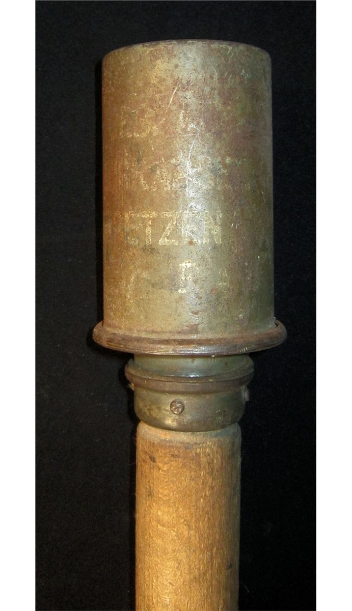 WWI German Potato Masher, Stick Grenade Inert