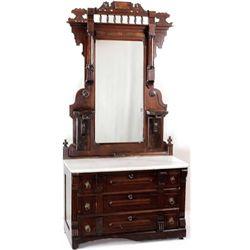 C. 1870's - 1880's Victorian dresser in walnut