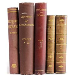 Collection of 5 antique books.