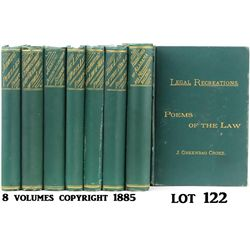 8 Volume Legal Recreation copyright 1885.