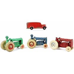 Collection of 4 antique toys includes