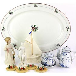 Collection of 6 includes porcelain figurines