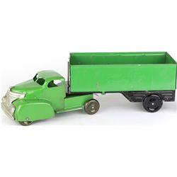 Wyandotte side dump truck and trailer