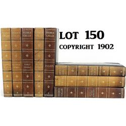 8 volume set Friedrich Schiller copyright 1902.