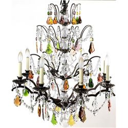 Brilliant crystal 8 arm chandelier