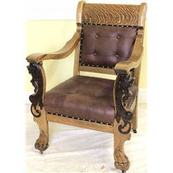 Beautiful C. 1890's oak arm chair