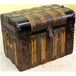 19th C. curved top travel trunk in nice