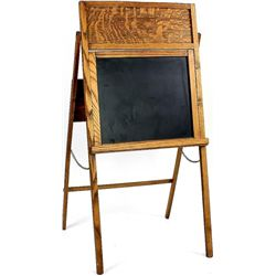 Quarter sawn oak childs folding chalk board