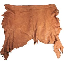 Large tanned elk hide.