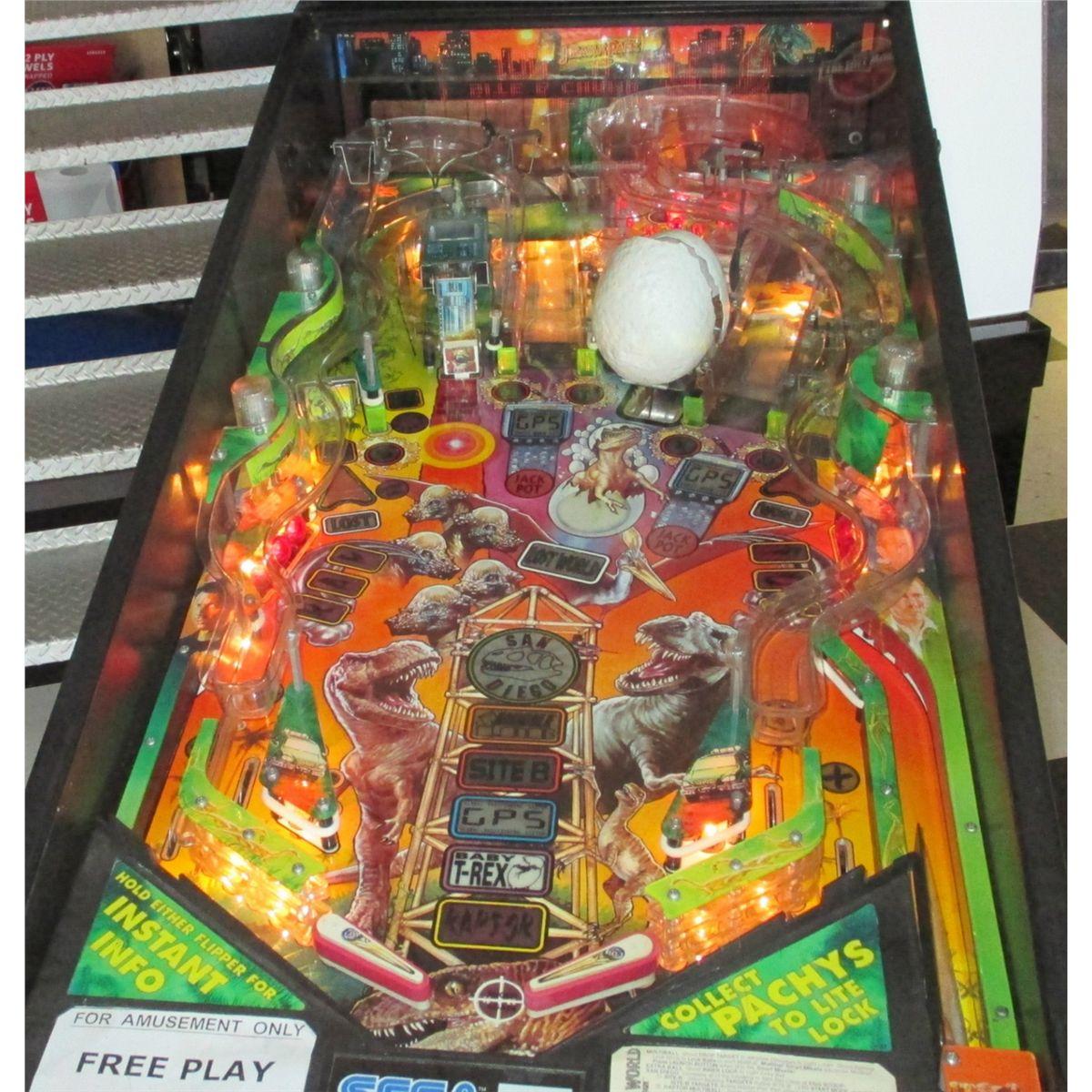 JURASSIC PARK PINBALL MACHINE ~ THE LOST WORLD by SEGA