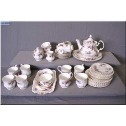 "A selection of Royal Albert ""Lavender Rose"" including teapot, cream, lidded and open sugars, six cup"