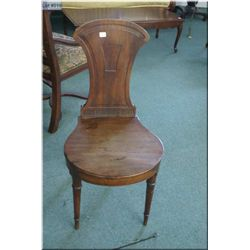 Small Empire style wooden side chair