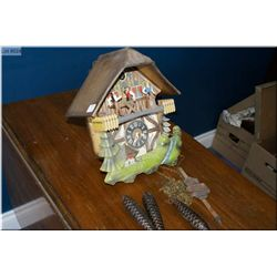 German made mill motif cuckoo clock