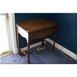 Single drawer walnut console table