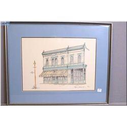 Framed limited edition print of Hudson's Bay store signed by artist Steven B. Osler 27/300