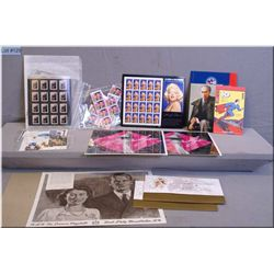 A tray lot of new in package collectible Canadian stamp set including Queen Mother at 100, Pierre Tr