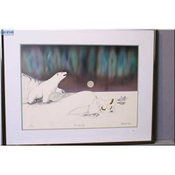 "Two framed limited edition prints including ""The Hardway"" signed by artist Michael D. Ice 86/450 and"