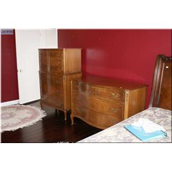 Mid 20th century walnut highboy and dresser made by Northern Furniture Co. Wisconsin. Note: Pulls an