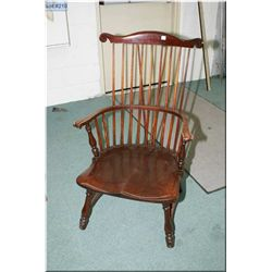 Spindle-back armchair with turned supports