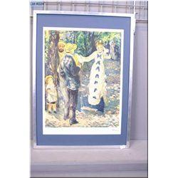 Framed limited edition Renoir print 188/250