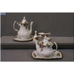 "Royal Albert ""Celebrations"" tea service including coffee pot, tea pot, cream and sugar bowl, sandwic"