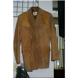 A vintage Scully leather jacket with tooled leather decoration