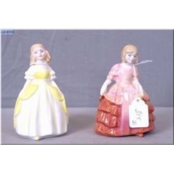 """Two small Royal Doulton figurines including """"Rose"""" HN1368 and """"Penny"""" HN2424"""