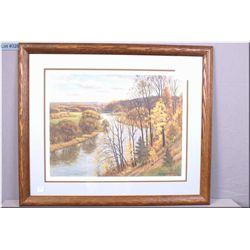 "Framed limited edition print ""Golden October"" pencil signed by artist Frank Panabaker 71/950"