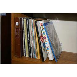 A selection of vintage vinyl records including Jazz, Rock n'Roll including The Beatles, Elvis Presle