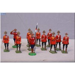 A selection of Johillco coldstream guard band metal soldiers