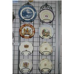 A selection of vintage plates including Royalty etc.
