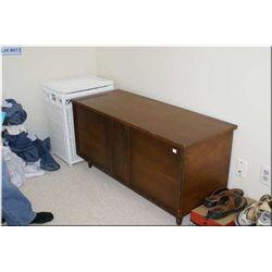 Walnut retro style cedar lined blanket box