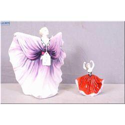 "Royal Doulton figurine ""Isadora""HN2938 and a miniature Royal Doulton figurine ""Karen"" HN3270"